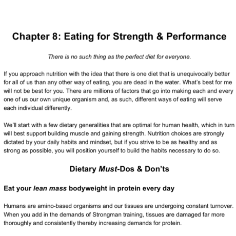 Nutrition UBStrongman